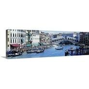 Premium Thick-Wrap Canvas entitled Rialto Bridge & Grand Canal Venice Italy