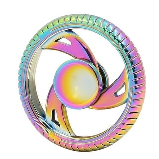 Fidget Spinner 3 Spoke Wheel, Rainbow Finish,  High Quality Zinc Alloy-Stress Reducer, Relieve Anxiety - GOLD