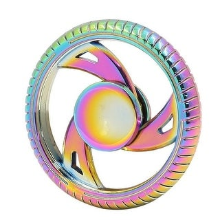 Fidget Spinner 3 Spoke Wheel, Rainbow Finish, High Quality Zinc Alloy-Stress Reducer, Relieve Anxiety