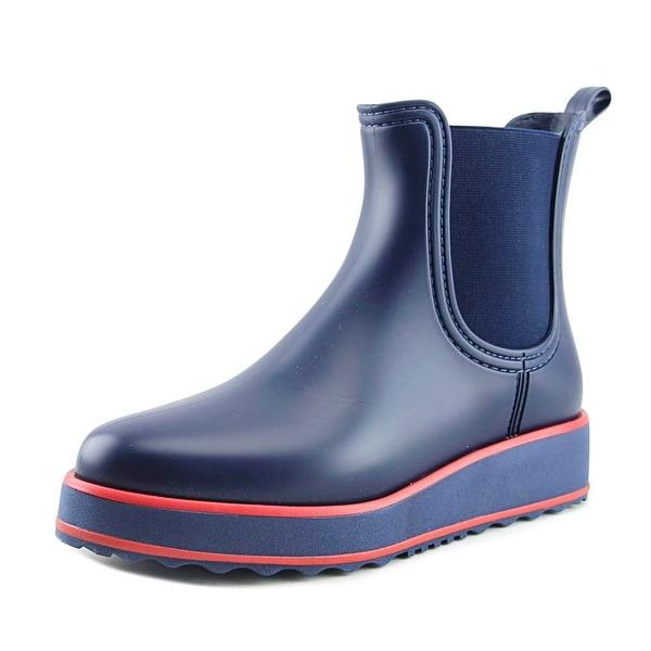 Bernardo Willa Rain Women Round Toe Synthetic Blue Rain Boot