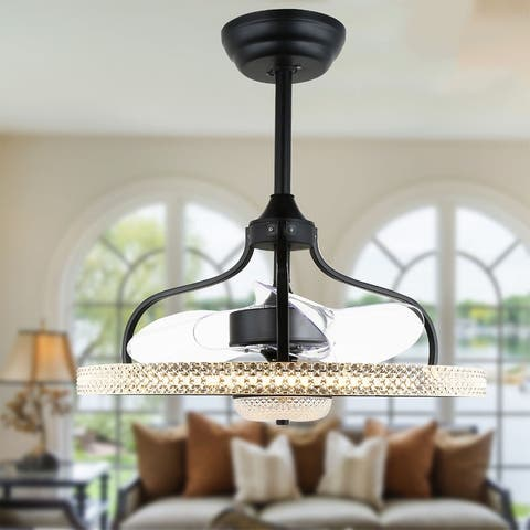 """24"""" Reversible Ceiling Fan with LED and Remote, DC Motor"""