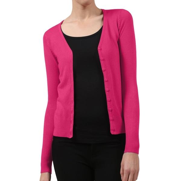 Shop NE PEOPLE Womens Button Down Classic V Neck Cardigan Sweater ... d6d32e59e
