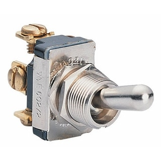 Calterm 41710 Universal Metal Toggle Switch, 15 Amp, Silver