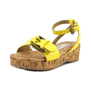Stella McCartney 3002 Toddler Open Toe Synthetic Yellow Wedge Sandal