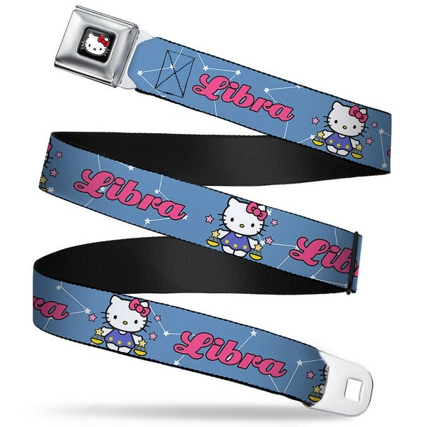 Hello Kitty W Red Bow Full Color Black Hello Kitty Zodiac Libra Webbing Seatbelt Belt