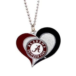 Alabama Crimson Tide Swirl Heart Necklace NCAA Charm Gift