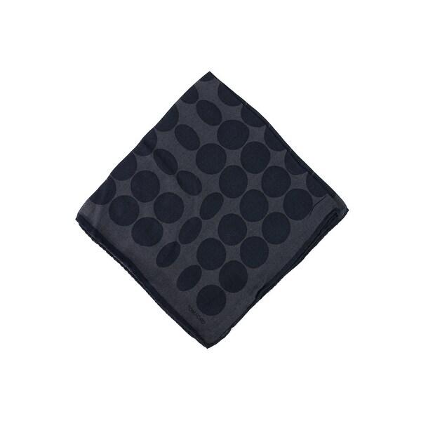 Tom Ford Men's Black Abstract CirclesPrint Pocket Square