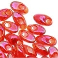 Miyuki Long Magatama Seed Beads 4x7mm - Transparent Rainbow Red (8.5 Grams) - Thumbnail 0