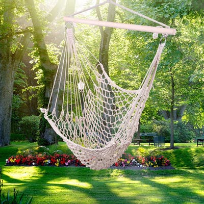 """35"""" Cotton Hanging Rope Air/Sky Chair Swing"""