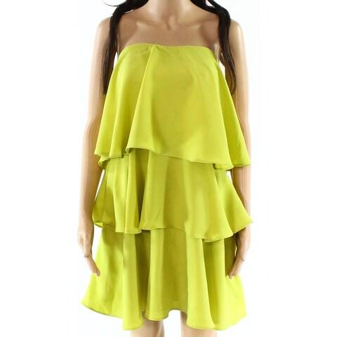 Endless Rose Citron Yellow Womens Size Small S Ruffle Shift Dress