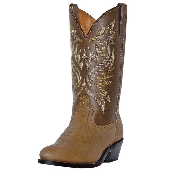 Laredo Western Boots Mens London Leather Round Toe Distressed Tan