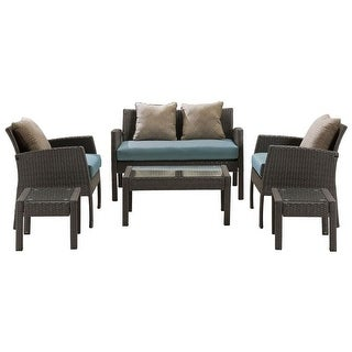 Hanover Outdoor CHEL-6PC-BLU Chelsea 6-Piece Patio Set in Ocean Blue