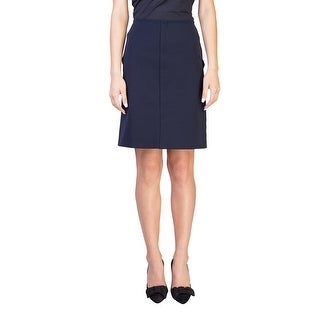 Prada Women's Nylon Polyester Blend Skirt Navy
