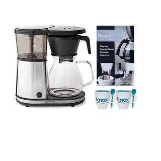 Bonavita 8-Cup Glass Carafe Coffeemaker with Descaling Powder and Knox Mugs