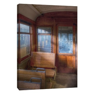 """PTM Images 9-105375  PTM Canvas Collection 10"""" x 8"""" - """"Trolley Interior 9"""" Giclee Transportation Art Print on Canvas"""
