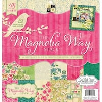 "Dcwv Paper Stack 12""X12"" 48/Pkg-Magnolia Way, 24 Designs/2 Each"