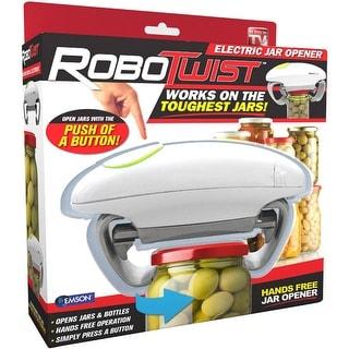 The Original Robo Twist Jar Opener, As Seen on TV Handsfree Easy Jar Opener, White