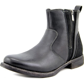 Steve Madden M-Ballad Men Round Toe Synthetic Black Boot