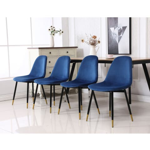 Lassan Contemporary Fabric Upholstered Dining Chairs (Set of 4)
