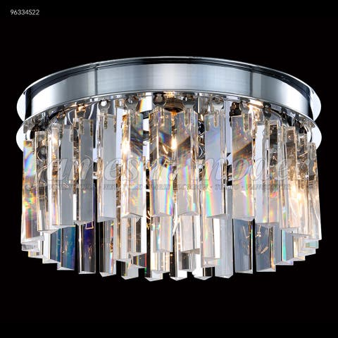 Crystal World Four Light Flush Mount Europa Silver - One Size