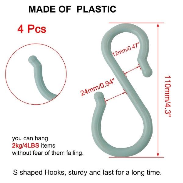 Plastic S-hook Hanging Hook Set