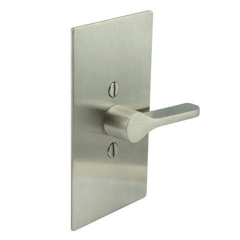 "INOX EC1517-BD4312 Privacy Latch for Sliding Barn Door with TT17 ADA Lever, Rectangular Rose and 3-1/2"" Backset -"