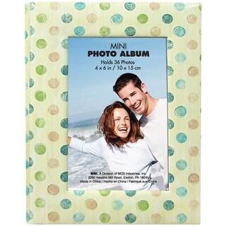 """MBI Photo Brag Book 4""""X6""""  -Tan W/Multi Dots"""
