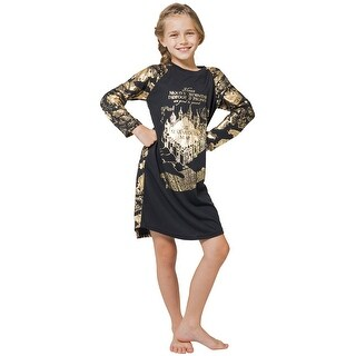 Intimo Big Girls' Harry Potter Marauders Map Raglan Nightgown