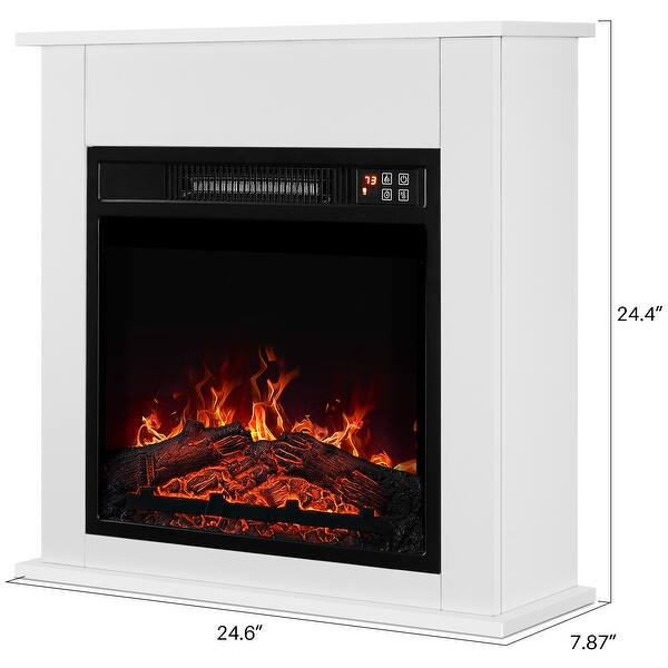 Shop Belleze 25 Delux 1400w Electric Fireplace Mantel Heater