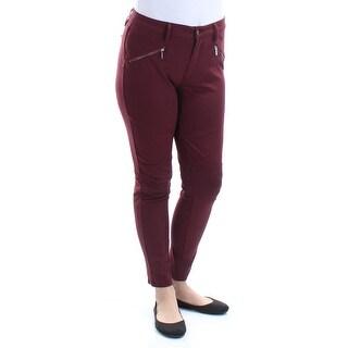 TINSELTOWN $29 Womens New 1481 Burgundy Skinny Casual Pants 13 Juniors B+B