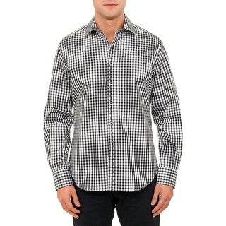 Robert Graham Mens Harrison Button-Down Shirt Checkered Classic Fit