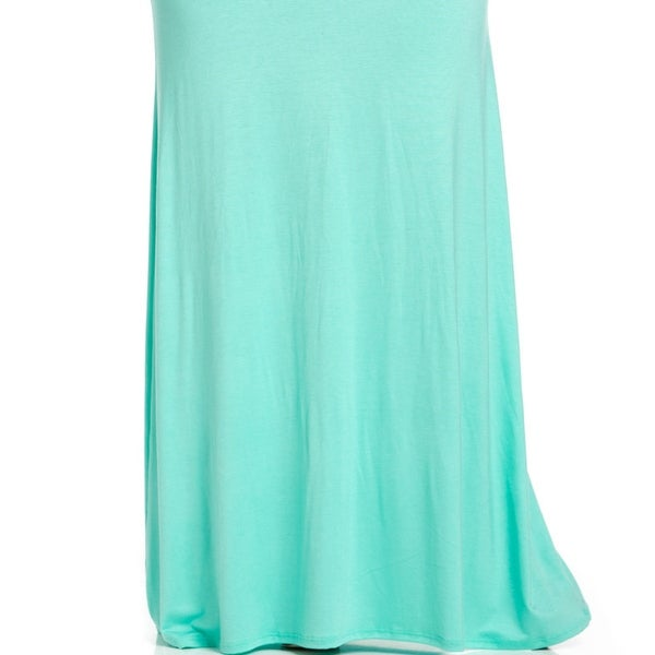 Shop Plus Size Fold Over Two-Way Maxi Skirt Mint - Free Shipping On ... 653b8ac7b6d8