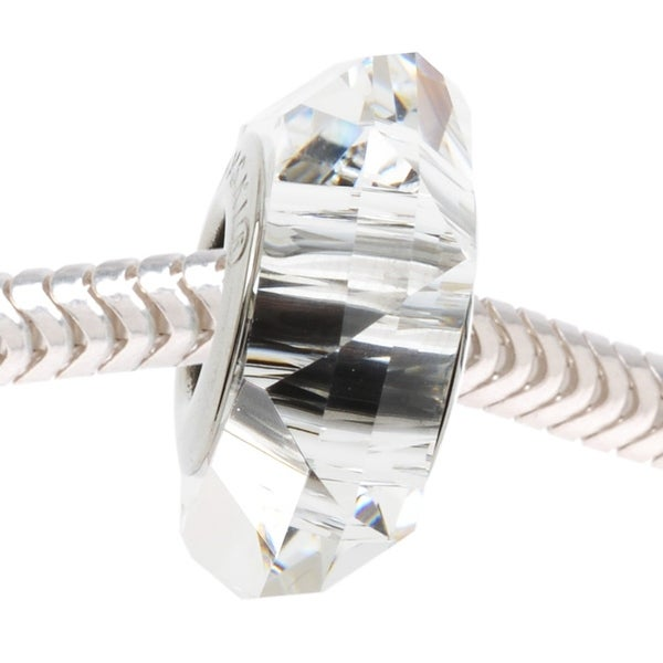 Swarovski Elements Crystal, 5929 BeCharmed Fortune European Style Large Hole Bead 14mm, 1 Pc, Crystal
