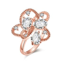 Rose Gold Crafted Abstract Ring