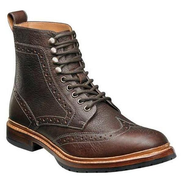 29f42759f2c Shop Stacy Adams Men's Madison II Wingtip Lace Boot 00076 Brown ...
