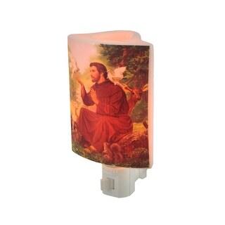 Saint Francis of Assisi Porcelain Oil Warmer Night Light - White