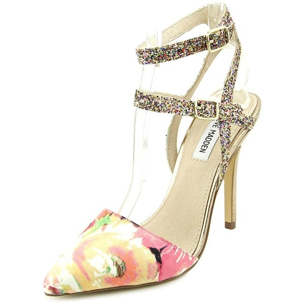Steve Madden Porttt Women Pointed Toe Canvas Multi Color Heels