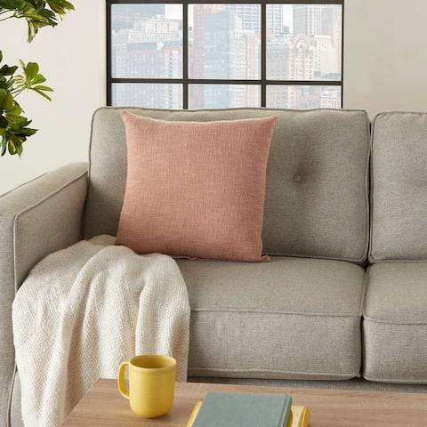 Mina Victory Life Styles Woven Textured Throw Pillow