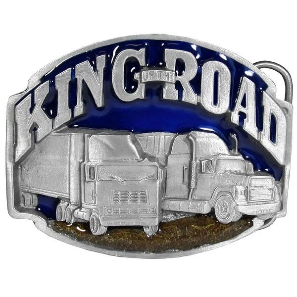 King Of The Road Trucker Belt Buckle