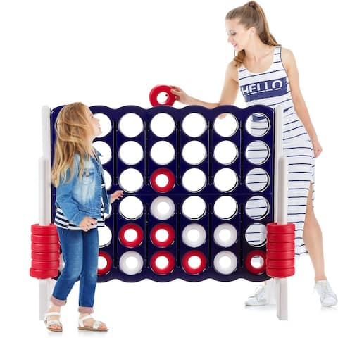 Jumbo 4-to-Score 4 in A Row Giant Game Set - Blue