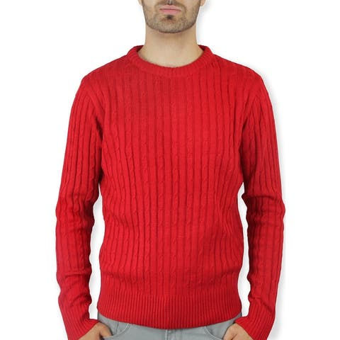 Crew Neck Cable Fashion Sweater (SW-333)