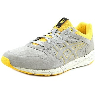 Asics Shaw Runner Men  Round Toe Suede Gray Sneakers