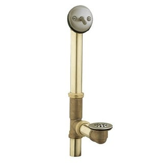 Moen 90410 Tub Drain with Brass Tubing and Trip Lever Drain Assembly