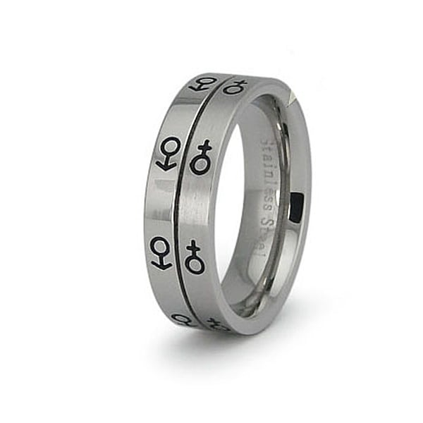 Stainless Steel Women's Ring (Sizes 5-8)