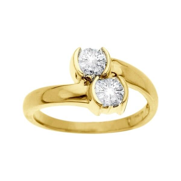 1 ct Duo Diamond Ring in 14K Gold