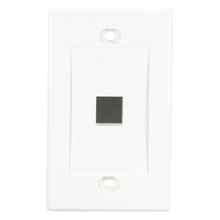 """Black Box WPWH-1 Black Box Value Line Wallplate, Single-Gang, 1-Port, White - 1 x Socket(s) - 1-gang - White"""