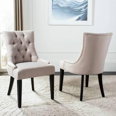 "SAFAVIEH En Vogue Abby Dining Chairs (Set of 2) - 22"" W x 23.8"" L x 36.4"" H - 22"" W x 23.8"" L x 36.4"" H"