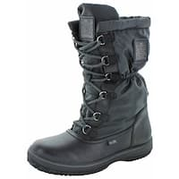 Coach Womens SAGE Leather Round Toe Mid-Calf Cold Weather Boots