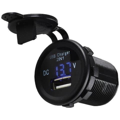 Nippon 12-24V single USB with voltmeter socket