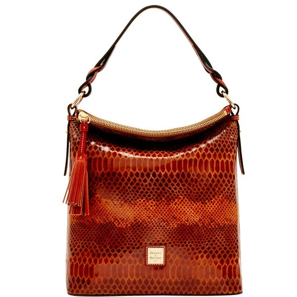 Dooney & Bourke Snake Small Sloan (Introduced by Dooney & Bourke at $288 in Nov 2016) - Saddle